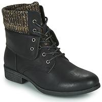 Sapatos Mulher Botas baixas Spot on F50613 Preto