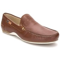 Sapatos Homem Mocassins Comodo Sport Mocasin de hombre de piel by Marron