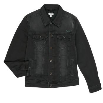 Textil Rapaz casacos de ganga Pepe jeans LEGENDARY Preto