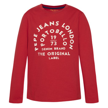 Textil Rapaz T-shirt mangas compridas Pepe jeans ANTONI Vermelho