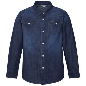 Textil Rapaz Camisas mangas comprida Pepe jeans JHON Azul