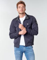 Textil Homem Jaquetas Calvin Klein Jeans ZIP UP HARRINGTON Marinho