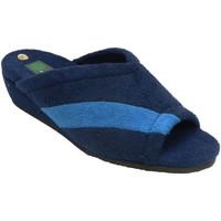 Sapatos Mulher Chinelos Miszapatillas Chinelos de dedo do pé aberto e toalha d azul