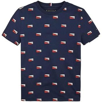 Textil Rapaz T-Shirt mangas curtas Tommy Hilfiger Kids PRINTED SHIELDS TEE azul
