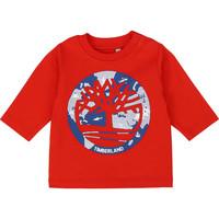 Textil Rapaz T-shirt mangas compridas Timberland T95889 Vermelho