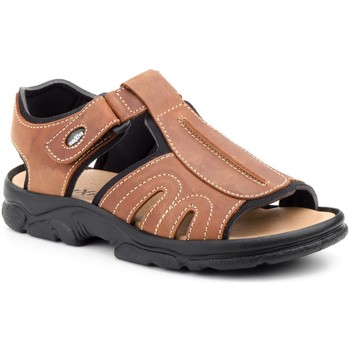 Sapatos Homem Sandálias desportivas Morxiva Shoes Sandalia de hombre de piel by Pepe Agullo Marron