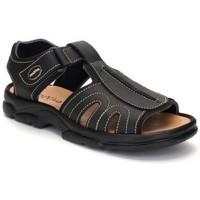 Sapatos Homem Sandálias desportivas Morxiva Shoes Sandalia de hombre de piel by Pepe Agullo Noir