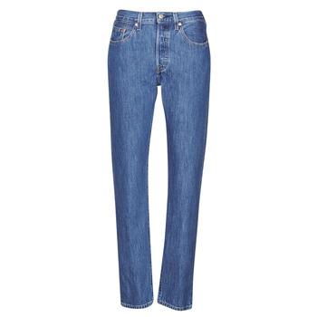 Textil Mulher Gangas boyfriend Levi's 501 CROP Azul