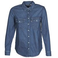 Textil Mulher camisas Levi's ESSENTIAL WESTERN Azul