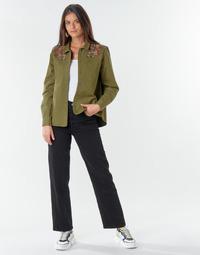 Textil Mulher Calças Jeans Levi's RIBCAGE STRAIGHT ANKLE Preto / Black multi wf sde