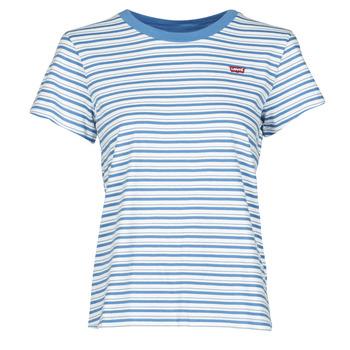 Textil Mulher T-Shirt mangas curtas Levi's PERFECT TEE Azul