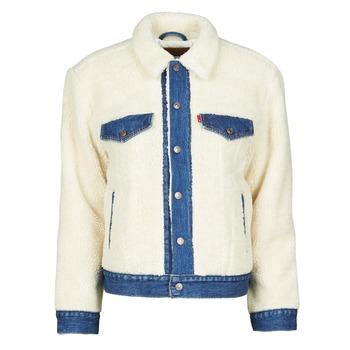 Textil Mulher casacos de ganga Levi's EX BF PIECED TRCKR Branco
