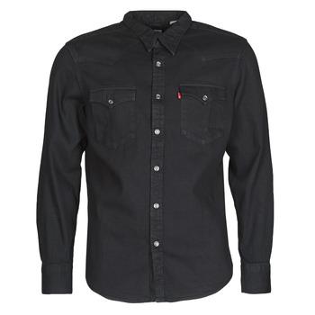 Textil Homem Camisas mangas comprida Levi's BARSTOW WESTERN STANDARD Preto