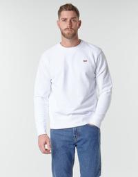 Textil Homem Sweats Levi's NEW ORIGINAL CREW Branco