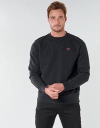 Textil Homem Sweats Levi's NEW ORIGINAL CREW Preto