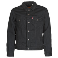 Textil Homem casacos de ganga Levi's TYPE 3 SHERPA TRUCKER Preto