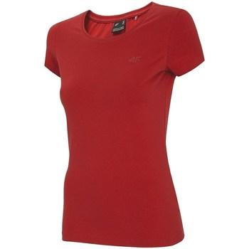 Textil Mulher T-Shirt mangas curtas 4F TSD001 Vermelho