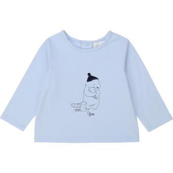 Textil Rapaz T-shirt mangas compridas Carrément Beau Y95249 Azul