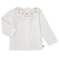 Textil Rapariga T-shirt mangas compridas Carrément Beau Y95244 Branco