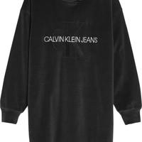 Textil Rapariga Vestidos curtos Calvin Klein Jeans IG0IG00711-BEH Preto