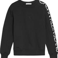 Textil Rapariga Sweats Calvin Klein Jeans IG0IG00691-BEH Preto