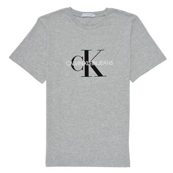 Textil Criança T-Shirt mangas curtas Calvin Klein Jeans MONOGRAM Cinza