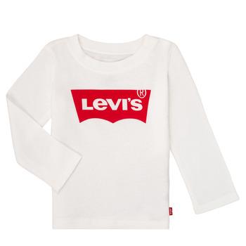 Textil Rapariga T-shirt mangas compridas Levi's BATWING TEE LS Branco