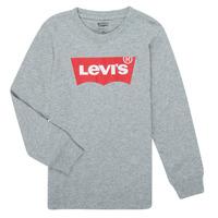 Textil Rapaz T-shirt mangas compridas Levi's BATWING TEE LS Cinza