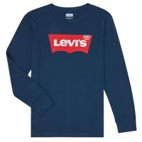 Textil Rapaz T-shirt mangas compridas Levi's BATWING TEE LS Azul