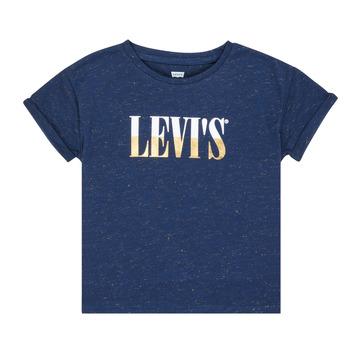 Textil Rapariga T-Shirt mangas curtas Levi's DROP SHOULDER TEE Azul