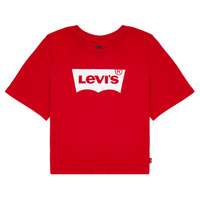 Textil Rapariga T-Shirt mangas curtas Levi's LIGHT BRIGHT CROPPED TEE Vermelho