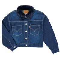 Textil Rapariga casacos de ganga Levi's OVERSIZED TRUCKER Azul