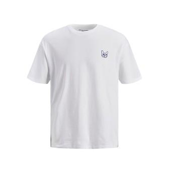 Textil Rapaz T-Shirt mangas curtas Jack & Jones JJAARHUS TEE Branco
