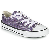Sapatos Rapariga Sapatilhas Converse Chuck Taylor All Star - Coated Glitter Violeta