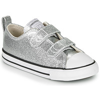 Sapatos Rapariga Sapatilhas Converse CHUCK TAYLOR ALL STAR 2V - COATED GLITTER Prata