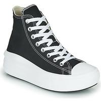 Sapatos Mulher Sapatilhas de cano-alto Converse Chuck Taylor All Star Move Canvas Color Hi Preto