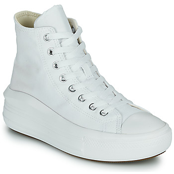 Sapatos Mulher Sapatilhas de cano-alto Converse Chuck Taylor All Star Move Canvas Color Hi Branco