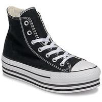 Sapatos Mulher Sapatilhas de cano-alto Converse CHUCK TAYLOR ALL STAR PLATFORM EVA LAYER CANVAS HI Preto