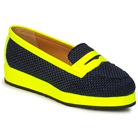 Sapatos Mulher Mocassins MySuelly VALENTINE Preto / Amarelo
