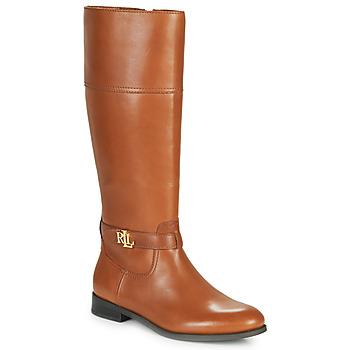 Sapatos Mulher Botas Lauren Ralph Lauren BAYLEE Conhaque