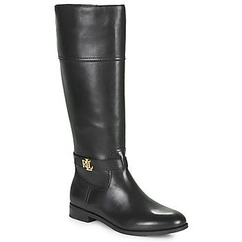 Sapatos Mulher Botas Lauren Ralph Lauren BAYLEE Preto