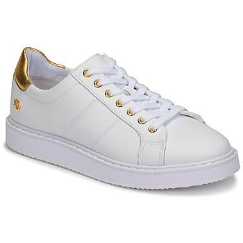 Sapatos Mulher Sapatilhas Lauren Ralph Lauren ANGELINE II Branco / Ouro