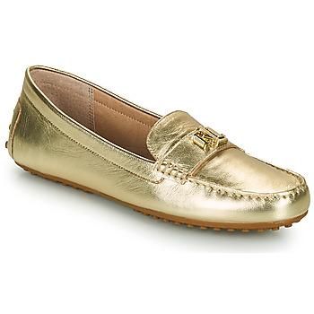 Sapatos Mulher Mocassins Lauren Ralph Lauren BARNSBURY FLATS CASUAL Ouro