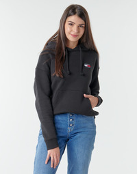 Textil Mulher Sweats Tommy Jeans TJW TOMMY BADGE HOODIE Preto