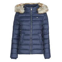 Textil Mulher Quispos Tommy Jeans TJW BASIC HOODED DOWN JACKET Marinho