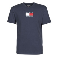 Textil Homem T-Shirt mangas curtas Tommy Jeans TJM SMALL FLAG TEE Marinho