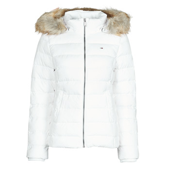Textil Mulher Quispos Tommy Jeans TJW BASIC HOODED DOWN JACKET Branco