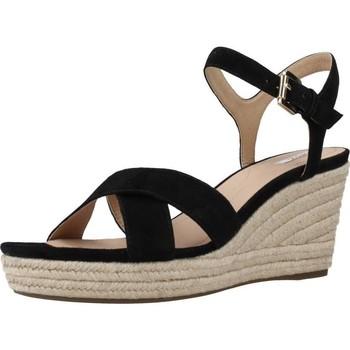 Sapatos Mulher Alpargatas Geox D SOLEIL A Preto