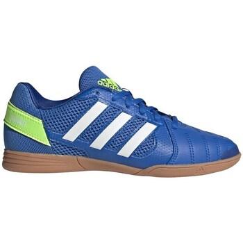 Sapatos Criança Chuteiras adidas Originals Top Sala Branco,Azul,Amarelo