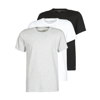 Textil Homem T-Shirt mangas curtas Calvin Klein Jeans CREW NECK 3PACK Cinza / Preto / Branco